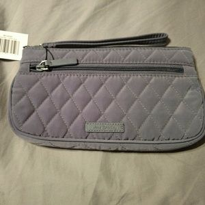 Quilted Carbon Gray wristlet